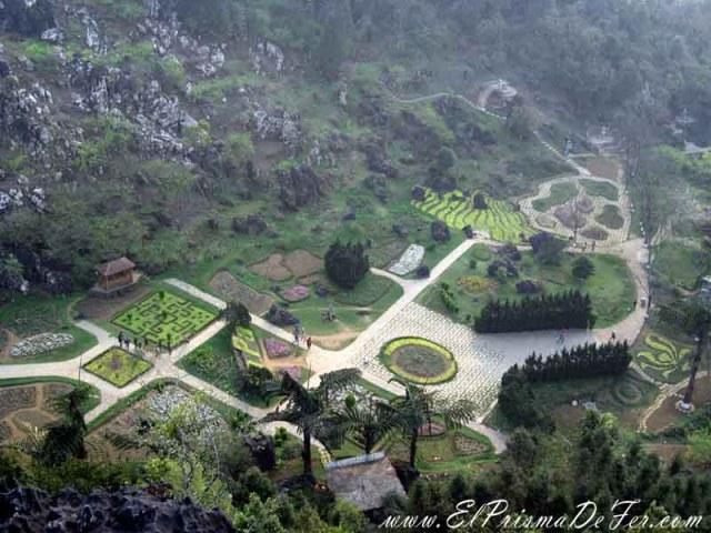 Vistas de los jardines de Ham Rong Mountain