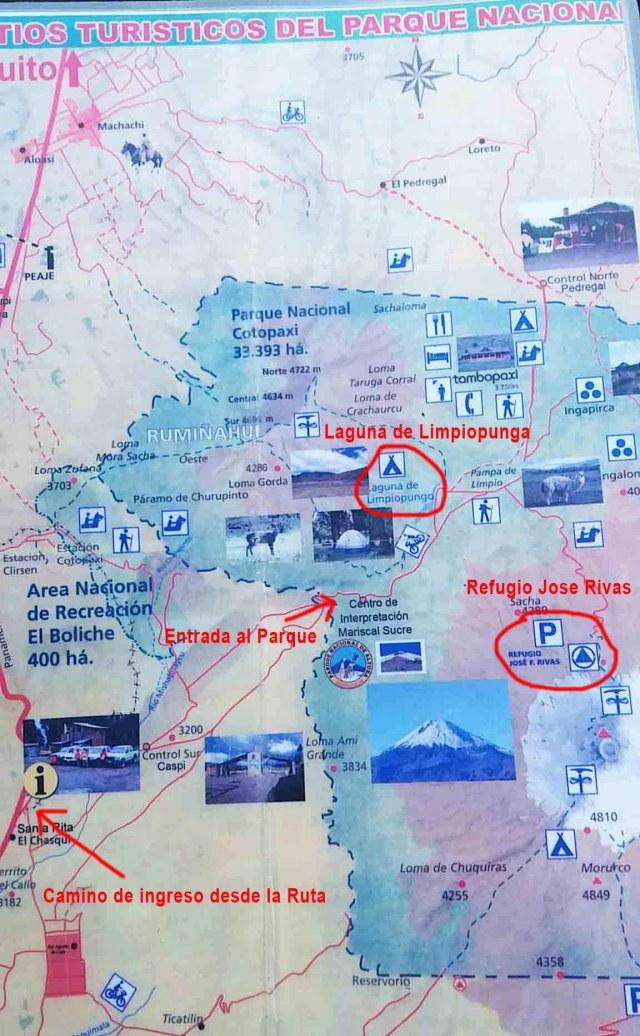 Mapa de atracciones del Parque