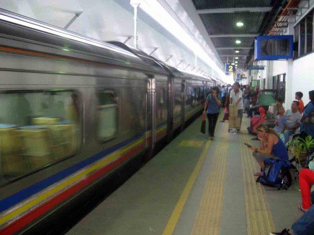 Estación de tren en la frontera entre Tailandia y Malasia