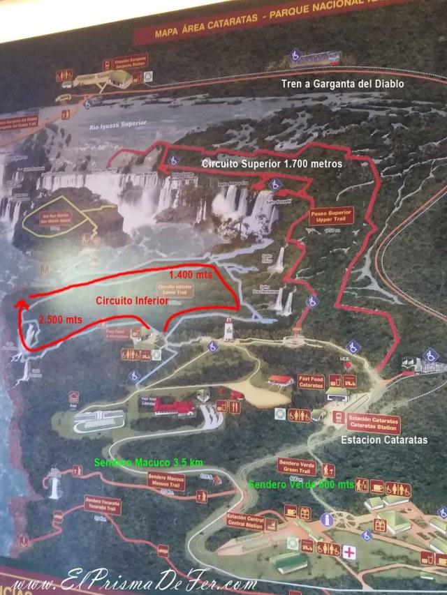 Plano del Parque Nacional Iguazú