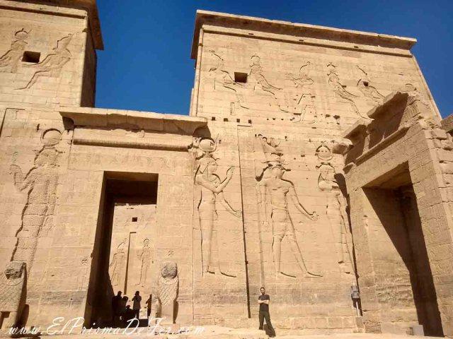 Una de las paredes del Templo Philae