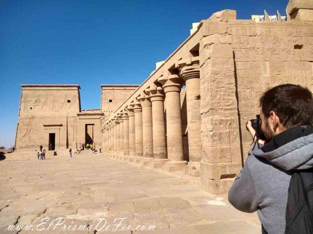 Pilonos en el interior del Templo de Philae