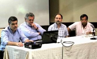 Diplomatura en Catastro. Córdoba, 2015. Mario Piumetto, José Ciampagna, Leonardo Ivars, Tito Bosch.