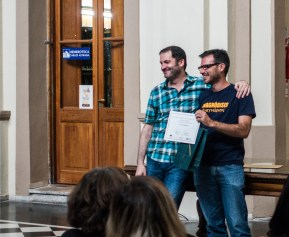 Germán Maretto y Augusto , ganador del premio de la Biblioteca Córdoba de este año 2015-