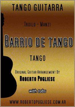 Barrio de tango - Tapa de la partitura para guitarra arreglada por Roberto Pugliese