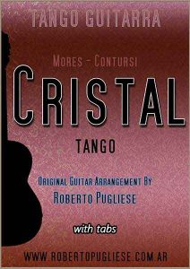 Cristal - tapa de la partitura del tango para guitarra