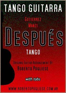 Despues tango guitarra tapa de la partitura para guitarra - Arreglo Roberto Pugliese