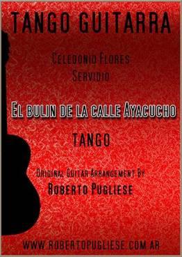 El Bulin De La Calle Ayacucho - tapa de la partitura en guitarra arreglo del maestro argentino Roberto Pugliese