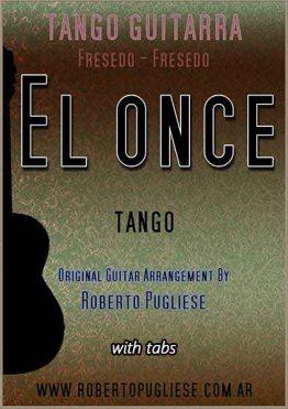 El once - tango - tapa de la partitura para guitarra arreglo del maestro Roberto Pugliese