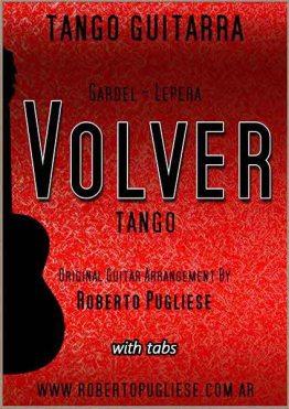 Tapa de Volver Tango partitura de guitarra