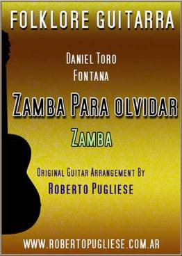 TAPA Zamba para olvidar partitura guitarra