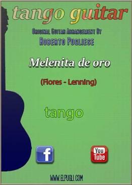 Melenita de oro tango partitura de guitarra