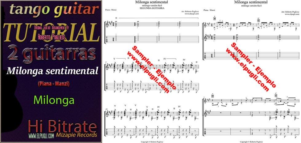 Milonga sentimental tutorial facil dos guitarras