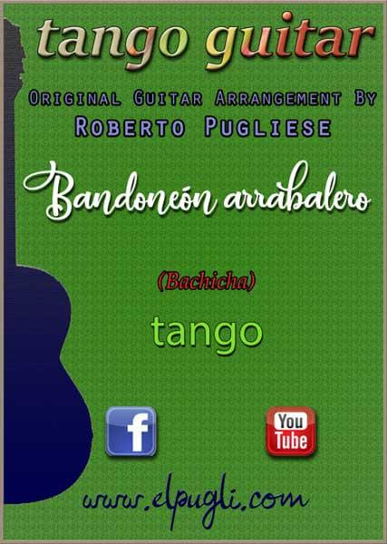 Tapa de Bandoneon arrabalero Tango partitura de guitarra