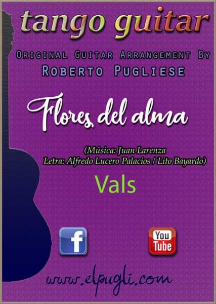 Tapa de la partitura Flores del alma vals criollo guitarra