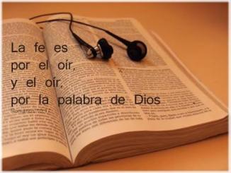 biblia, fe, oir palabra de Dios