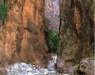 Samaria, camino, quebrada, parábola, bosquejo