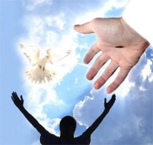 hablando, Dios, cielo, oracion