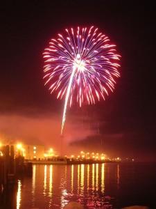 Año nuevo, celebracion, fiesta, triunfar