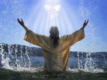bautizo jesus, paloma espiritu santo, milagros, bosquejo