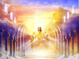 jesus, rey, trono, cielo, angeles