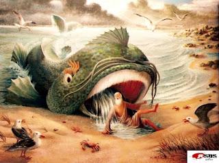 jonas, vengativo, jonas tragado por un pez