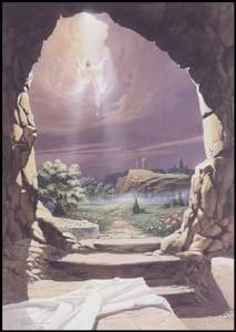 Resurreccion Jesús, cueva abierta, jesus ascendiendo, israel, tumba, jesús
