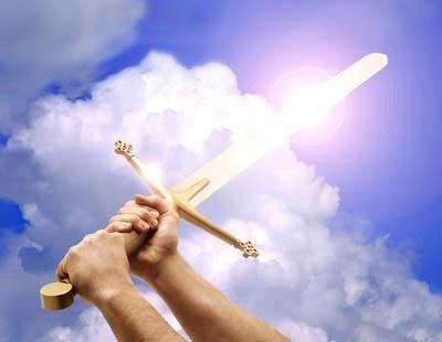 la armadura de Dios, espada, cielo