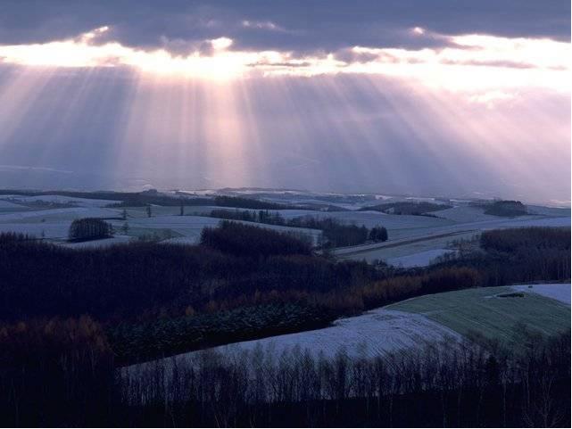 cristo, cosa, entregar, paisaje, resplandor