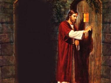 jesus tocando a la puerta, bosquejo