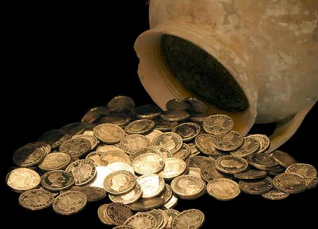 justicia, justo, rey de justicia, monedas, jarron