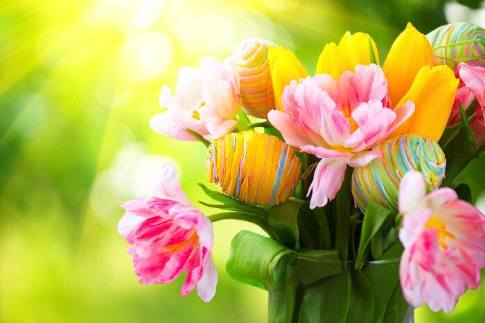 طريقة تلوين بيض شم النسيم بالالوان الطبيعية بالصور
