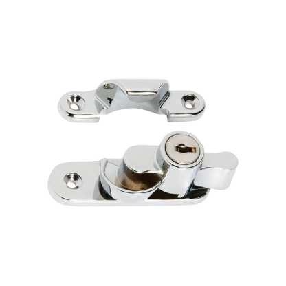 1608 - Sash Fastener - Locking - Chrome Plate 1