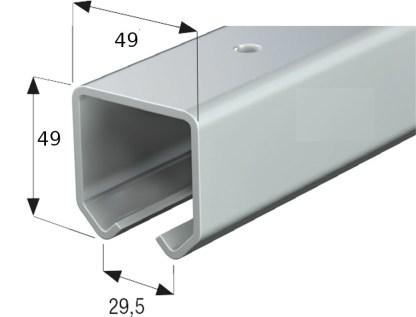 Cowdroy Industro Sliding Door Track 5800mm Galvanised - Cowdroy OM56111 2