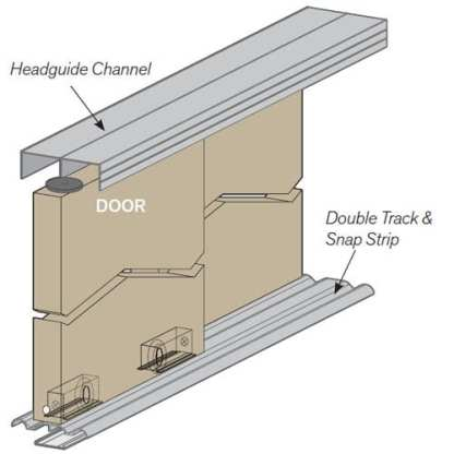 Kit For Two Sliding Doors 1620mm Long Clear Anodised -Cowdroy P58012 4