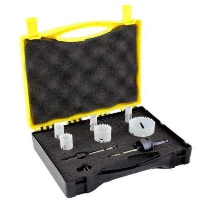 Holesaw Set 8 Piece - Locksmith Kit -Bi-Metal -Made In Usa 1