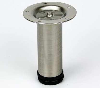 Metal Cylinder Leg -  150x50mm  - Satin Nickel 1