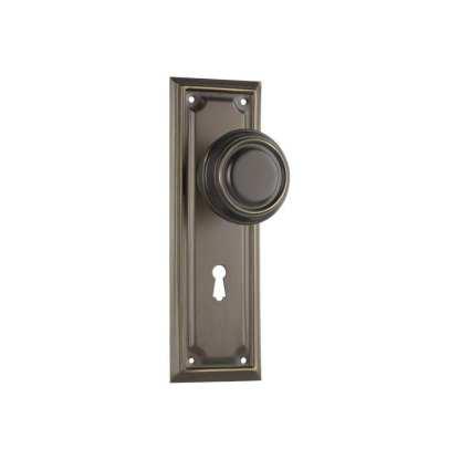 Tradco 0855 - Edwardian Knob Lock - Antique Brass - 185x60mm 1