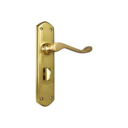 Tradco 1042P - Windsor Lever Privacy - Polished Brass - 200x45mm - 60mm(P) 1