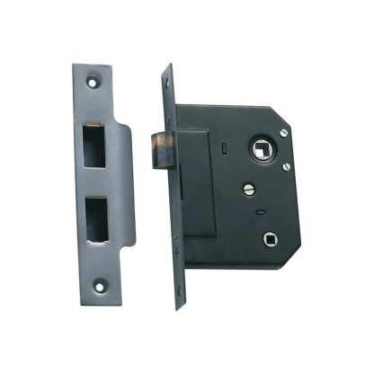 1145 - Bathroom Lock - Antique Copper - 44mm Backset 1