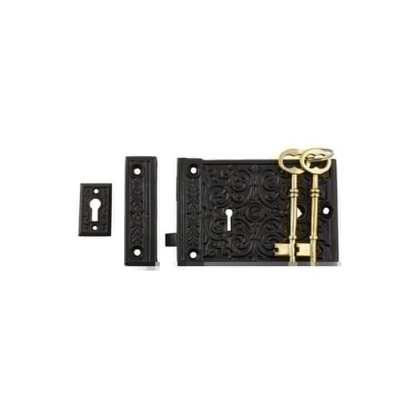 2010 - Rim Lock - Matt Black - 155x105mm 1