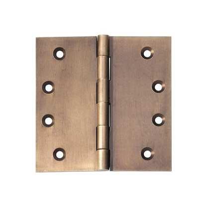 2374 Hinge - Butt Hinge - Fixed Pin - Antique Brass - 100x100x3mmmm 1