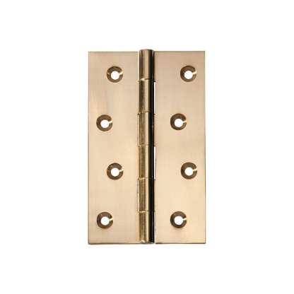 2472 Hinge - Butt Hinge - Fixed Pin - Polished Brass - 100x60x2.5mm 1