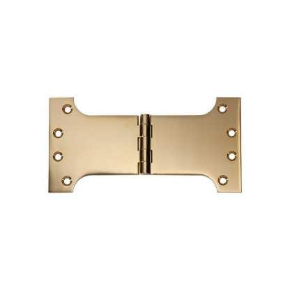 2484 Hinge - Parliament Hinge - Polished Brass - 100x200x4mm 1