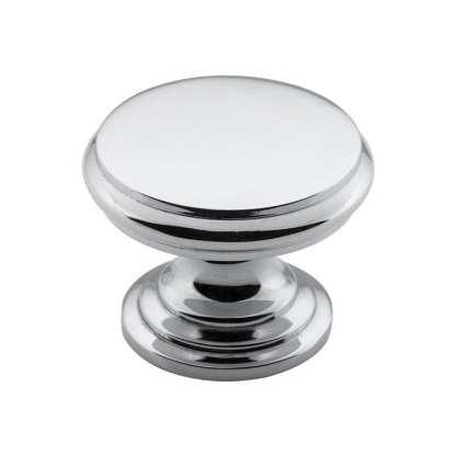 3048 - Cupboard Knob - Flat - Chrome Plate - 32mm 1