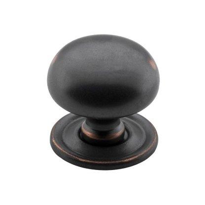 3656 - Cupboard Knob - 32mm - Antique Copper 1
