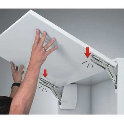 Hafele Lift Up Fitting - Free Flap - 350-650mm Cabinet Height - 3.4 To 7kg 4