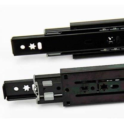 Drawer Slide Soft Close - Bottom Mount - Black - 300 to 700mm 4