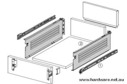 Innobox Steel Drawer 150mm Wall Height. Lengths from 350mm to 550mm 2