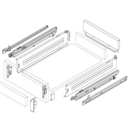 Innobox Full Extension Kit- 400mm Drawer 4